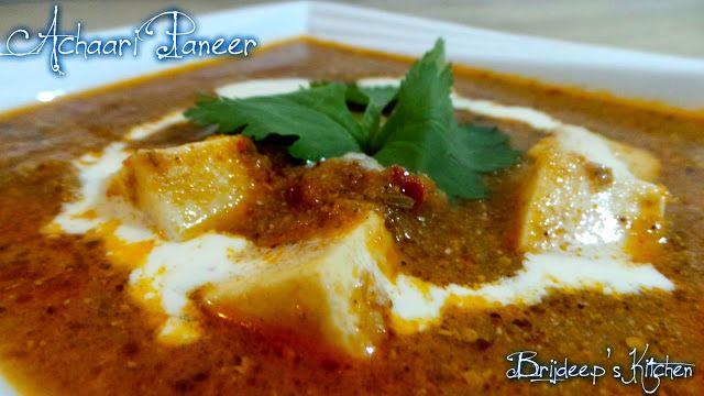 For the Love Of Food..: Achaari Paneer Masala