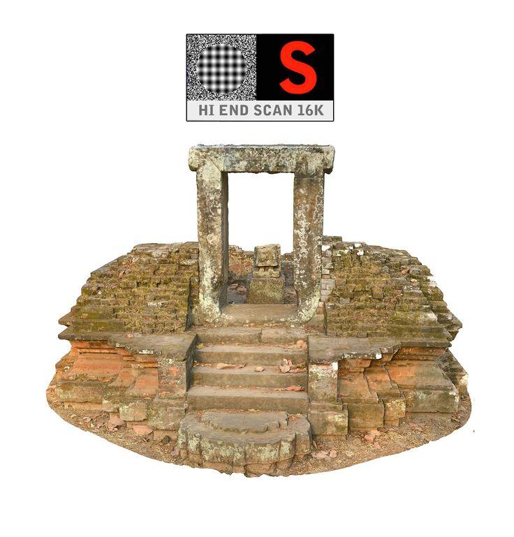 3d angkor thom temple 16k model