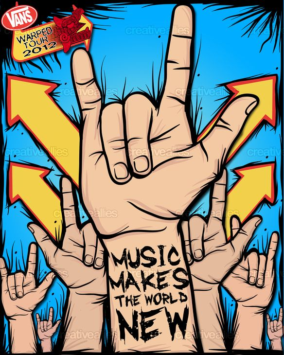 Design by pakoaldama for the poster contest for the 2012 Vans Warped Tour