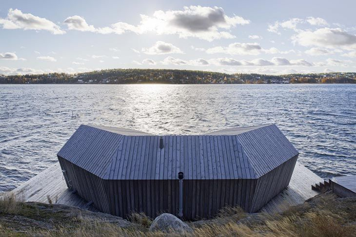 Stockholm Brenner Sauna by Hans Murman Architects © Jaroslav Fragner Gallery