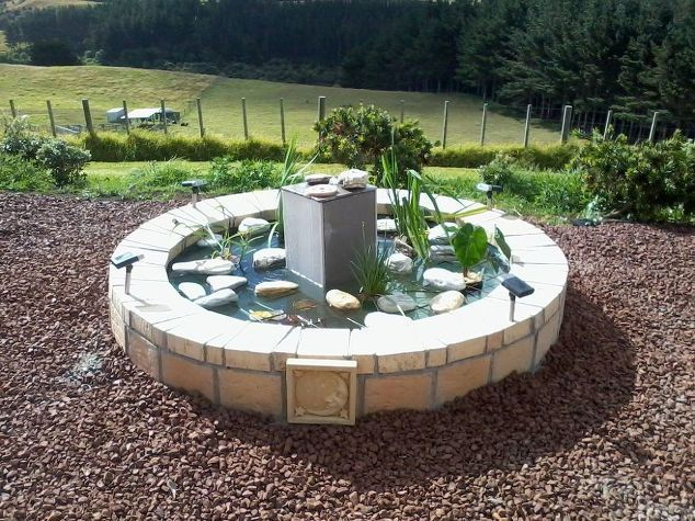 Dress up your landscape or garden with a DIY water fixture. Click in for steps from Hometalk to turn an upcycled hot tub into a fish pond or fountain. Add solar lights to make it stand out at night.