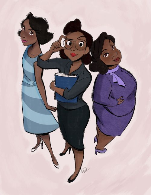 """In honor of Black History Month thought I'd do a fan art of """"Hidden Figures"""". These women not only helped create and mold American history, they weren't afraid of following their dreams. MAD respect."""