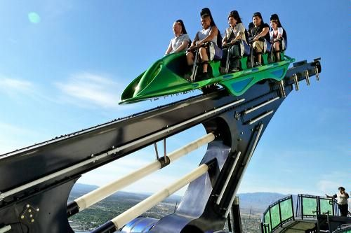 Never, ever, nope, not ever going to happen. X-Scream ride at the Stratosphere Hotel in Vegas.