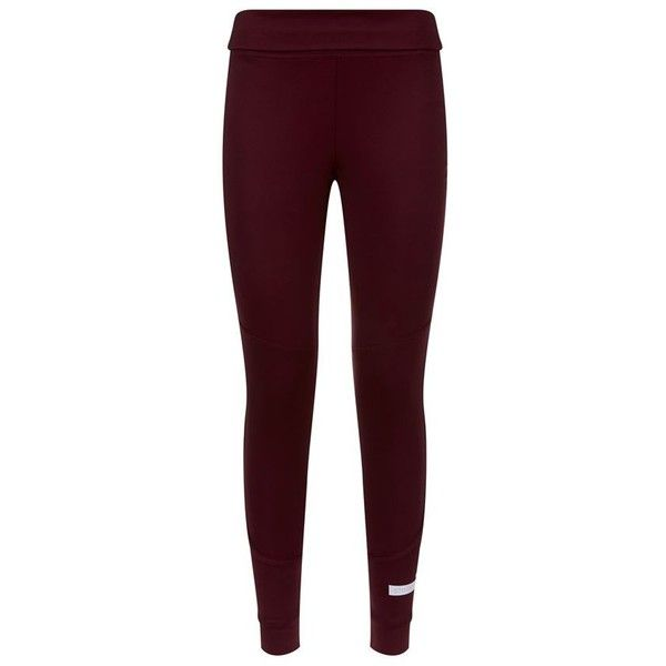 Adidas By Stella McCartney Performance Fold-Over Leggings ($110) ❤ liked on Polyvore featuring activewear, activewear pants, adidas activewear, adidas and adidas sportswear