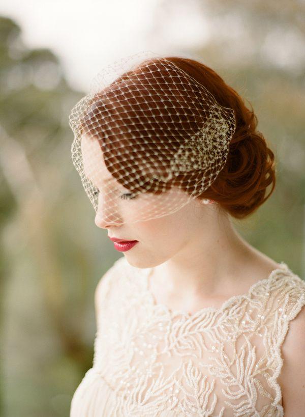Beautiful birdcage veil (etsy) - Art Deco-meets-handmade-fete wedding captured by Adrian Tuazon - via ruffled