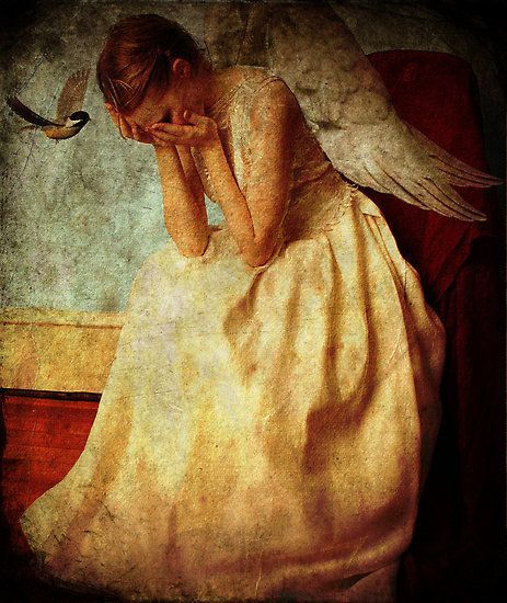 "Tears of an Angel by Voila and Black Ribbon ""Give sorrow words; the grief that does not speak knits up the o-er wrought heart and bids it break.""― William Shakespeare, Macbeth"