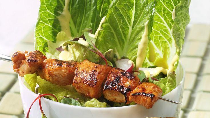 Kyllingspyd med Cæsarsalat