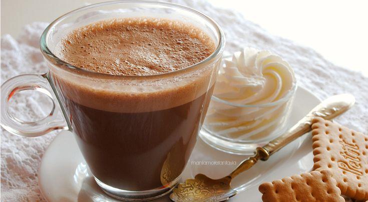La vera cioccolata calda, densa e cremosa