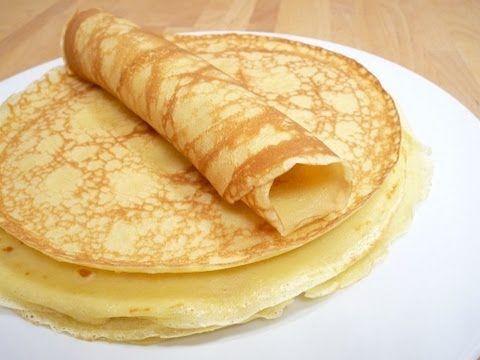 Pfannkuchen/ Eierkuchen- Basis-Teig - YouTube