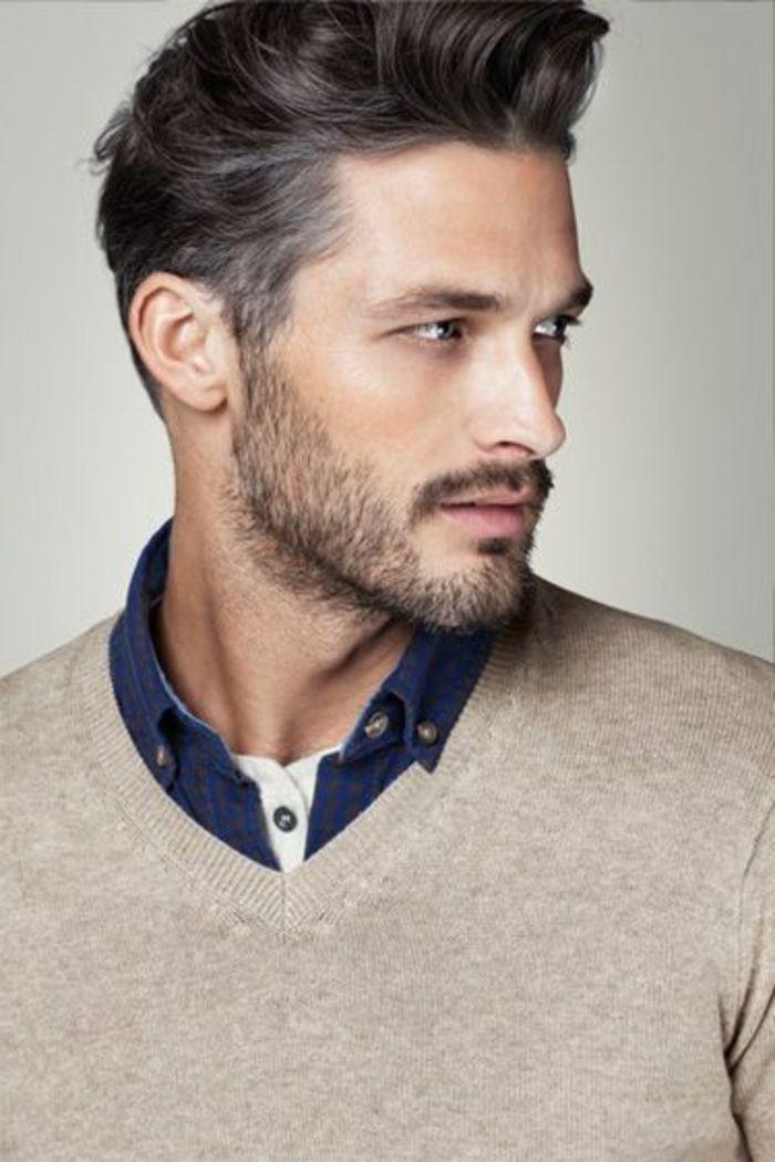 tendances dans les coupes de cheveux hommes modernes, hommes élégants avec coiffures modernes