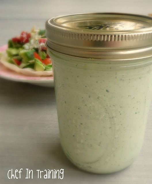 Cafe Rio Tomatillo Dressing - I just made this recipe for a Christmas party!  It's super good and I freeze half of it for another meal.  Best on a sweet pulled pork salad.