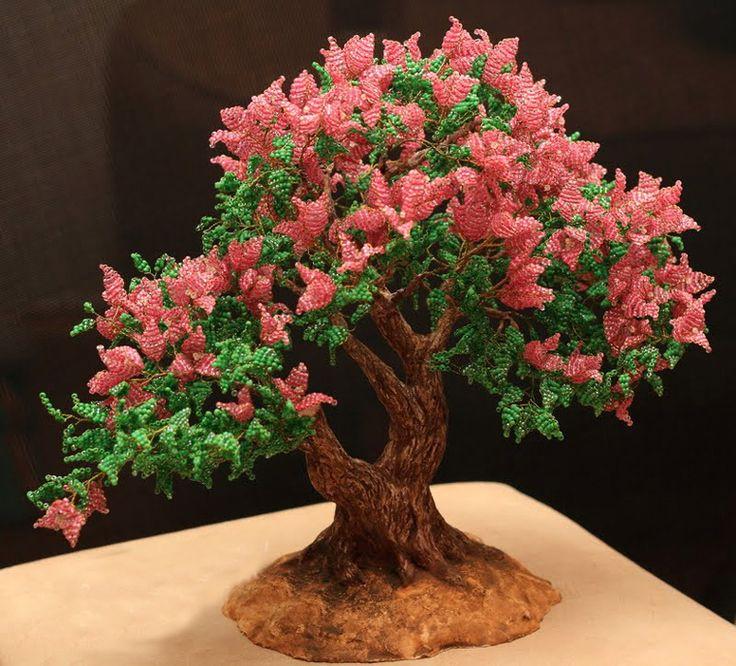 красивые большие деревья из бисера фото осб