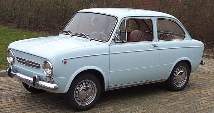 "1968 Fiat 850.  I fell in love with these cars when I was 10, the year we spent in Europe.  I called it a ""Squashback Fiat"""