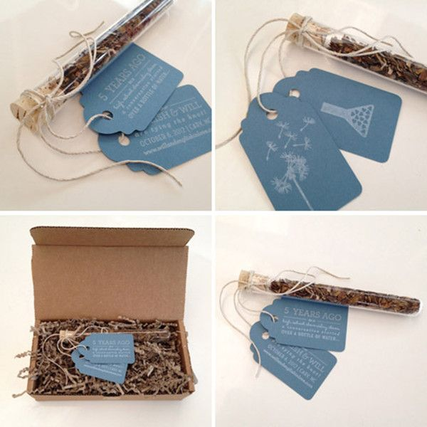 10 Unique DIY Wedding Save the Date Ideas--take the tags and write Sam on one and Alex on the other.