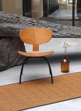 Plywood chair naar design Eames LCW !Opknapper! stoel retro