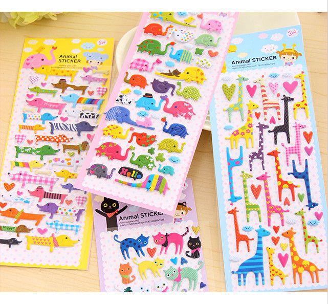 Cute fumetto kawaii adesivi scrapbooking sticker creativo cancelleria scuola in    Numero 1-4       Numero 5-8   da carta di Scratch su AliExpress.com | Gruppo Alibaba