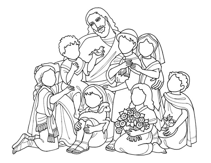 44 best images about jesus blessing the children on for Jesus was a child like me coloring page