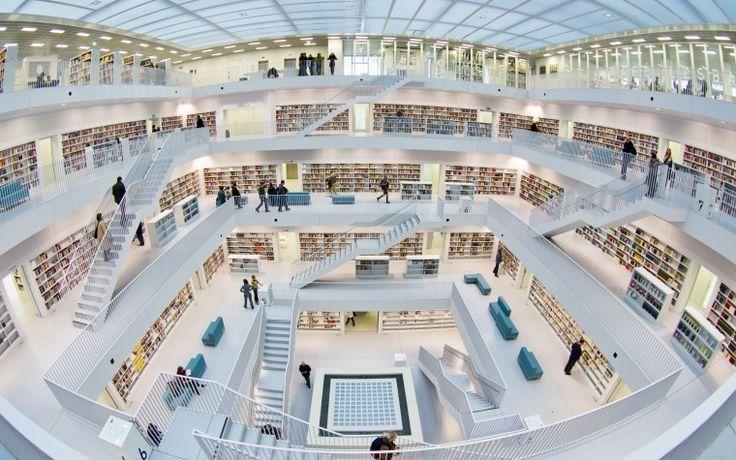Современная библиотека - Скачать обои для рабочего стола, картинки, фоны, заставки