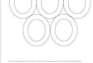 Een stippelspelenringenblad om te knutselen bij Igor Stippelkampioen. Gemaakt in opdracht van uitgeverij Clavis.