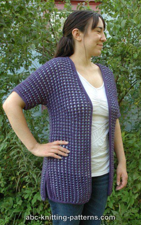 ABC Knitting Patterns - Subtle Mesh Summer Cardigan