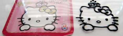 Galletas decoradas con transfers de Hello Kitty www.chicuqui.com