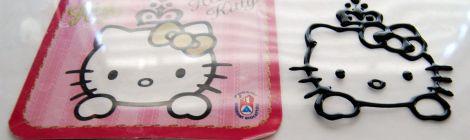Galletas decoradas con transfers de Hello Kitty www.chicuqui.com