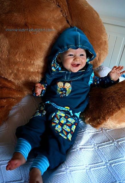 Stoff: Eulenquartett und Sterne/ Lillestoff Ebook Kathi von CZM Ebook Regenbogenbody von Schnabelina Ebook Pumphose Frida via Dawanda Stickdatei: Owl's Garden von HUUPS