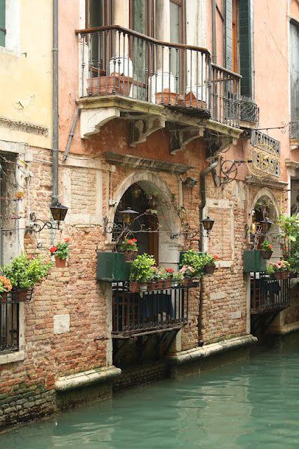 Venice, iron balconies.