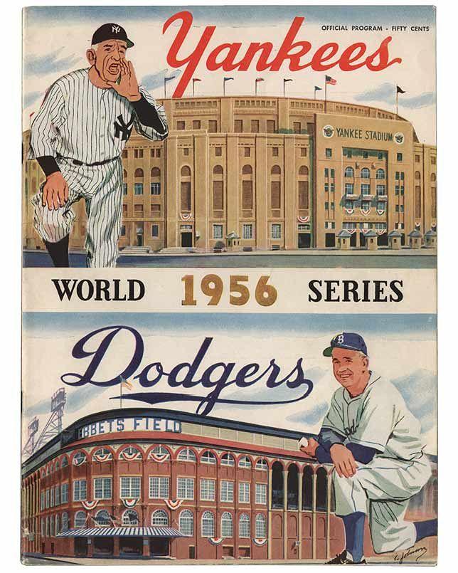 National Baseball Hall of Fame - World Series Programs - 1956 Yankees Cover Art