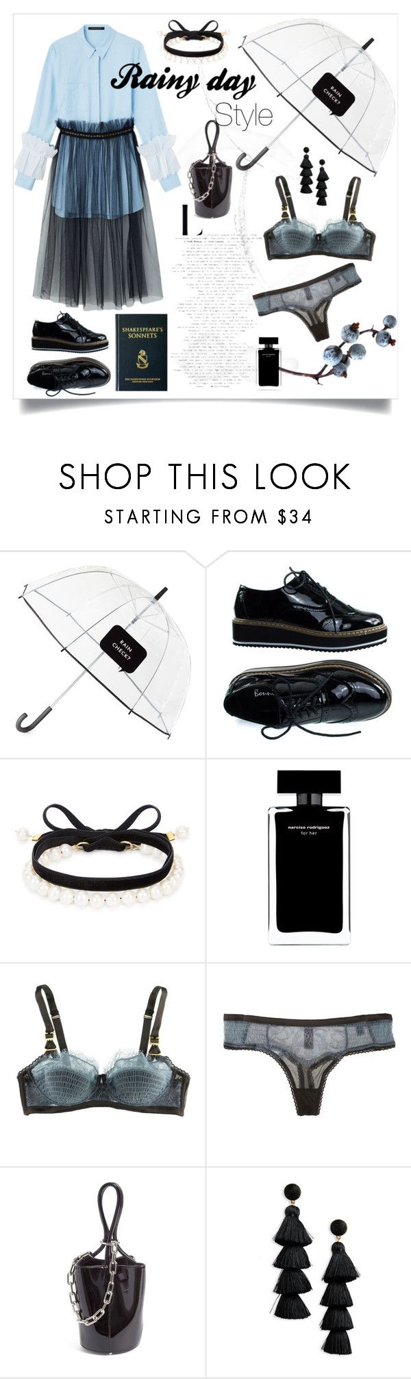 """A Rainy Day"" by agate-mu ❤ liked on Polyvore featuring Kate Spade, Magda Butrym, Narciso Rodriguez, STELLA McCARTNEY, Alexander Wang and BaubleBar"