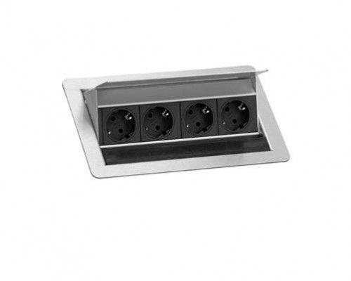 EVOline FlipTop MEDIUM / Netbox 4x power / Cable aperture black brush
