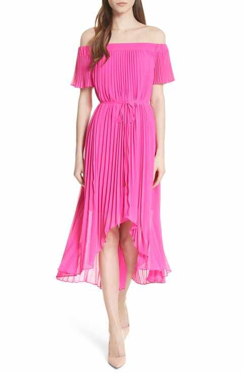 5d62f2b33b44b4 Ted Baker London Melli Off the Shoulder Pleat Dress