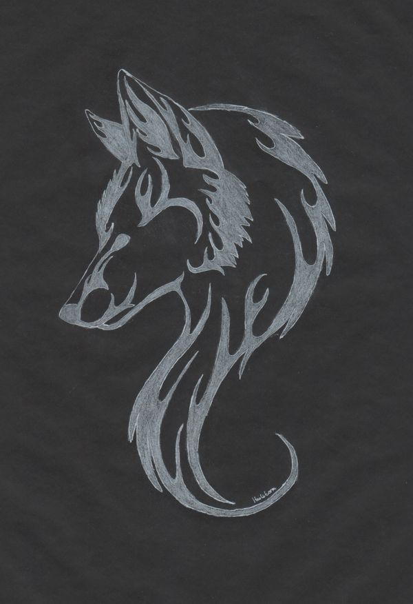 white wolf tattoo by TheMetasepia.deviantart.com on @deviantART