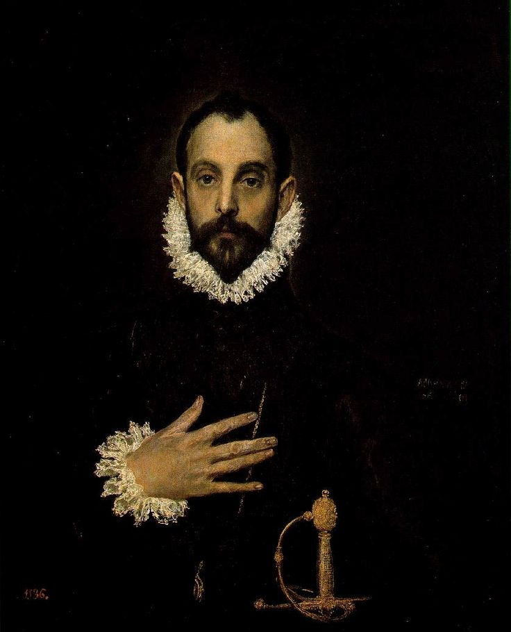 The Knight with His Hand on His Breast - El Greco