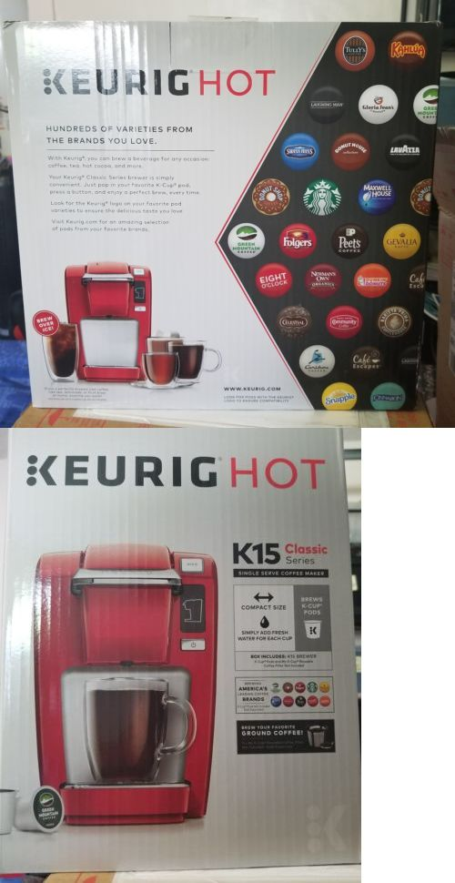 Single Serve Brewers 156775: Brand New Keurig K15 Single Serve Compact K-Cup Pod Coffee Maker (Chili Red) -> BUY IT NOW ONLY: $58.99 on eBay!