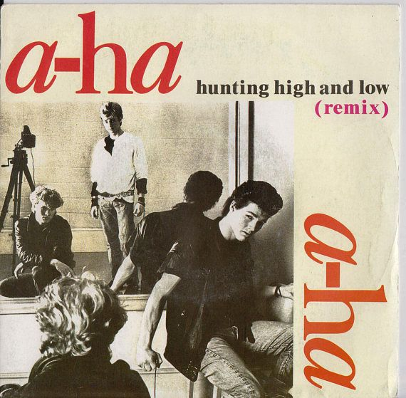 """A-HA Hunting High & Low 1986 FRENCH Issue 7"""" 45 rpm Vinyl Single record synth pop electro new wave dance 80s music aha 9266637 Free Shipping"""