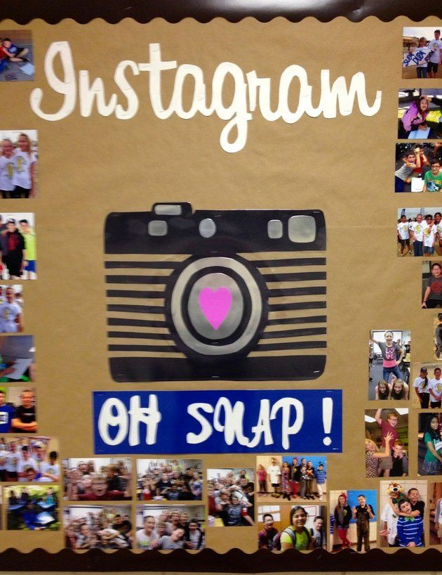 Add an Instagram-themed bulletin board to your back-to-school classroom decor!