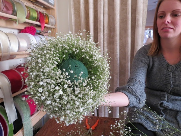 DIY how-to: babys breath ball
