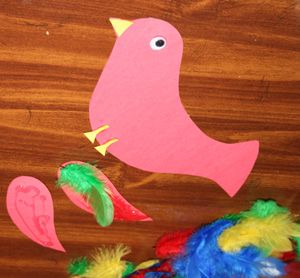 Tico and the golden wings a story and a craft for Feathered birds for crafts