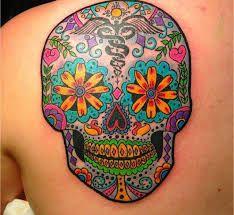 Resultado de imagen para candy skull tattoo
