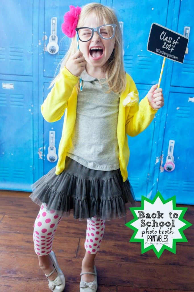 Back to School Photo Booth Printables for pictures
