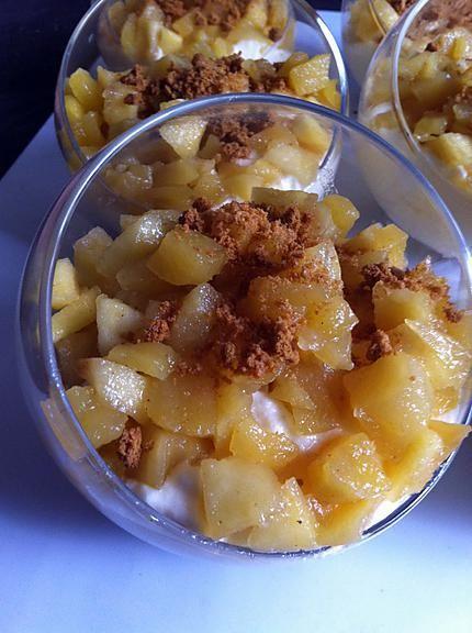 recette Tiramisu pomme-miel et spéculoos