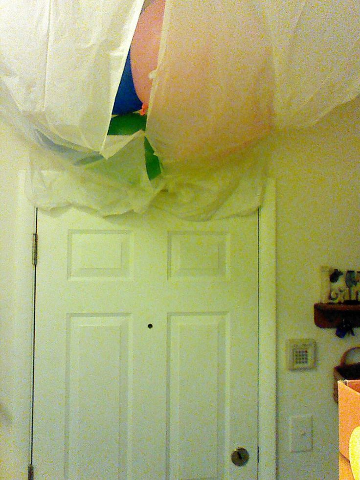 So, here's a random thing that I did to surprise my dad. He often travels for work, and was coming home the night of his birthday a few years ago, so I decided to make a balloon avalanche to …