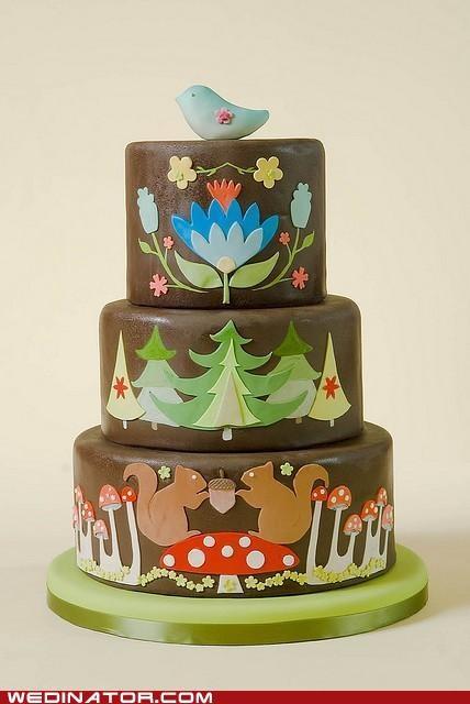 a woodland cake. too cute! :): Idea, Amazing Cake, Beautiful Cake, Wedding Cakes, Awesome Cake, Birthday Cake