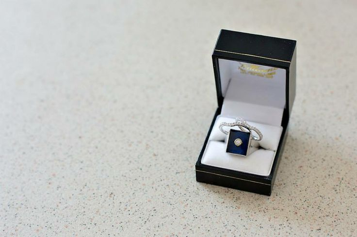 Grooms Ring  designed by Groom and Williams the Jewellers and Brides rings from Michael Hill <3