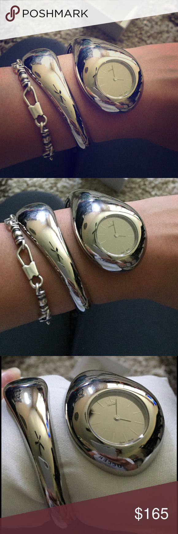 Calvin Klein Watch Swiss Made Very Classy watch never go anywhere to where something this fancy will need a battery Calvin Klein Accessories Watches