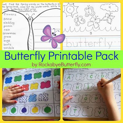 Rockabye Butterfly: Butterfly Printable Pack!