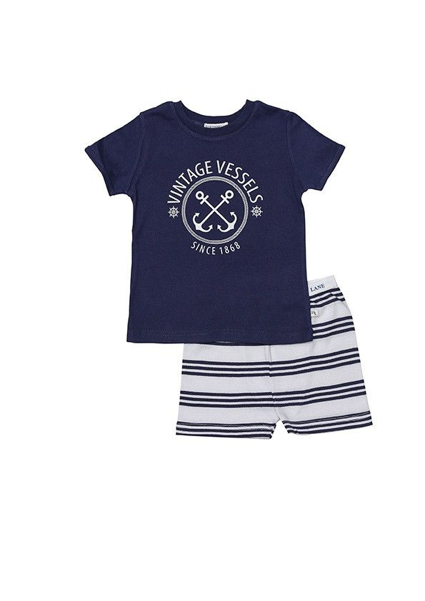 Huckleberry Lane Boys Navy Vintage Vessel PJ's – Pyjamarama