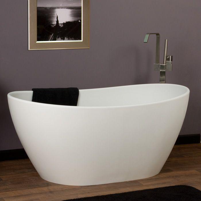 "Photos: 56"" Winifred Freestanding Resin Tub"