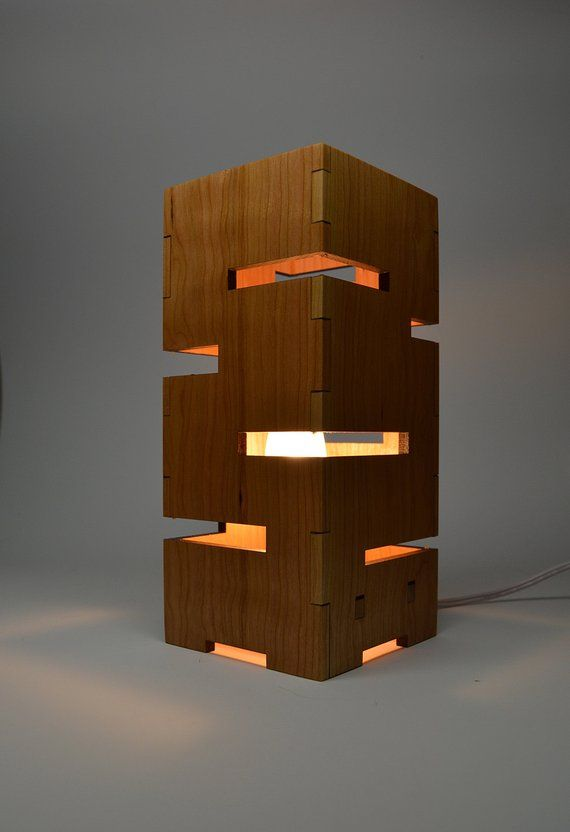 Geometric Wooden Lamp Schlafzimmer Pinterest